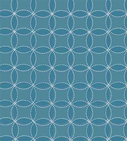 flori in blue, circles, geometrics, large scale pattern, blues, circle pattern, modern retro, modern wallpaper,