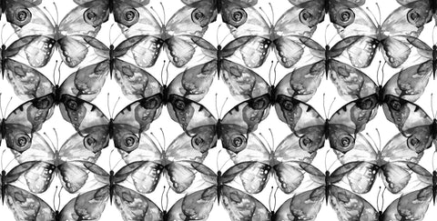 flutterby, butterflies, black and white, negative, large scale butterflies, butterfly mural, butterfly wallpapers, girls, spa,