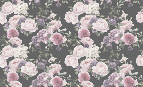 large flora, big roses, rose wallpaper, large scale floral wallpaper, large floral mural, romantic florals,