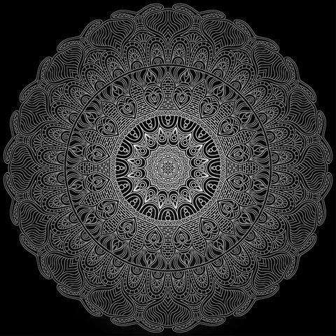 Mandala,healing,circle, large poster, Zen image, yoga wall, healing image, mandala circle, black and white,