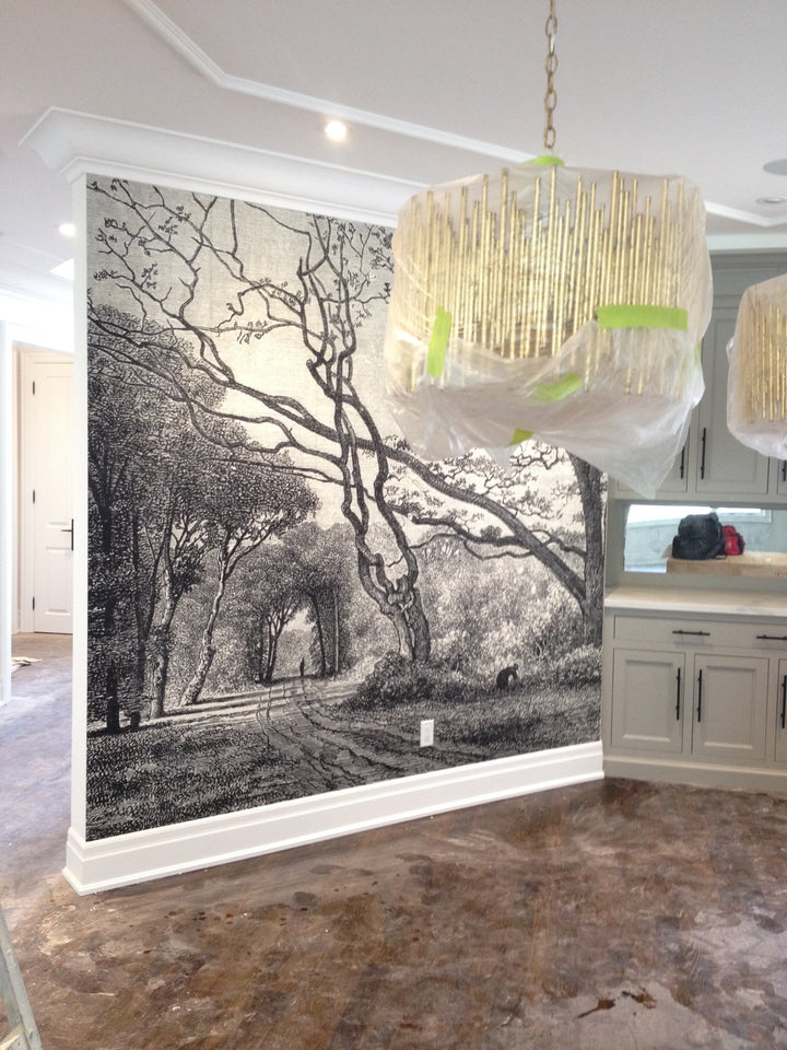 custom printing, ruth baker design custom print, mural for a kitchen,