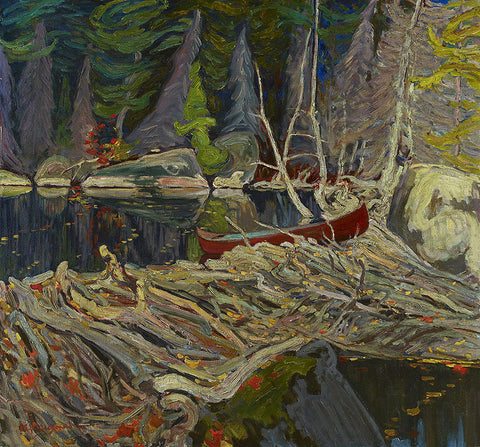 J.E.H MacDonald, The beaver dam, famous painting, beaver dam, painting mural, group of seven,
