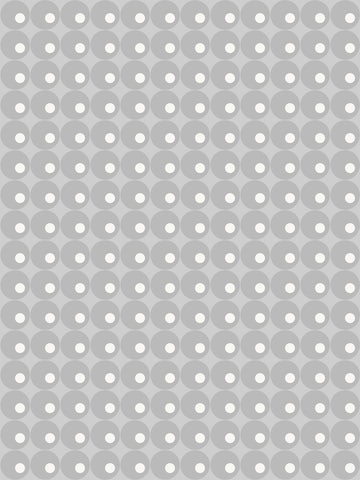 Lavello, modern wallpaper, light grey, white circles, modern retro, modern vintage, large scale pattern,