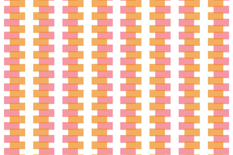 retro mural, retro design, vintage, 50's design, geometric, large scale geometric, modern wallpaper, modern mural, orange, yellow, bright colour,