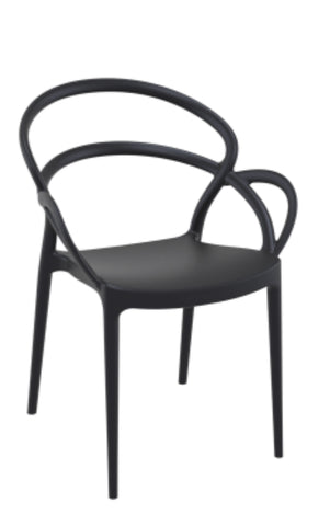 Mila Chair, outdoor chair, outdoor black dinning chair, dinning chairs, outdoor furniture, patio chairs,