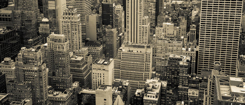 NYC, New York, buildings, new york city buildings, sepia city, large scale NYC, large scale mural, sepia mural,