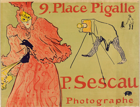 Place Pigalle, Poster, Toulouse Lautrec, French art, Large scale posters, Vintage posters,