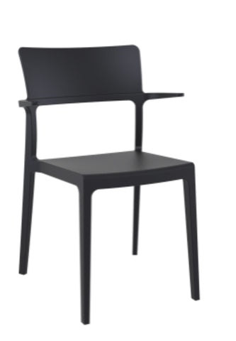 Plus Chair, black chairs, cafe chairs, restaurant chairs, cafe style chairs, outdoor chairs, outdoor patio furniture,