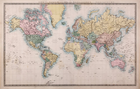 world map, pretty world map, decorative world map, large scale world map, map, office walls,
