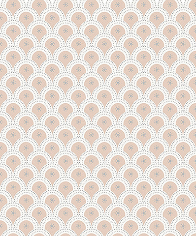 Susa #2, pretty wallpaper, pink wallpaper, girls room, baby room, new baby, scallop design, pretty girls room,