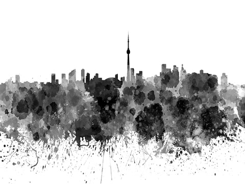 Toronto, toronto sky line, city scape, modern city, toronto, spashy city, Toronto city sky line, Black and white, Black and white city,