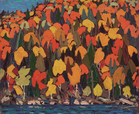 Tom Thomson, autumn foliage, leave, painting, famous art, famous art wall size, fall, forest in fall, AGO images, archive images,