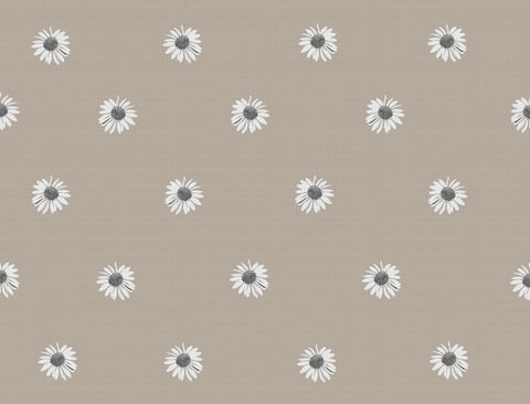 woven daisy,daisy, textured, kids rooms, single flowers, daisy design, beige, taupe,