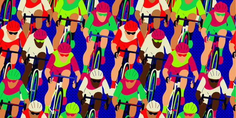bike race, colorful, racing bike mural, racing, people racing, bike racing, cycling, fun mural, modern, young interiors,