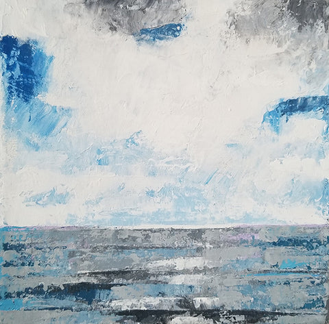 lake, long point painting,blue and white artworks, small painting to buy online, landscapes,
