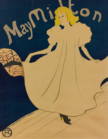 may milton, toulouse Lautrec, french art poster, posters from france, women in art,