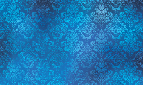 blue damask, damask, large scale damask, textured damask, textured wallpaper, texture, bright blue damask, designer range,