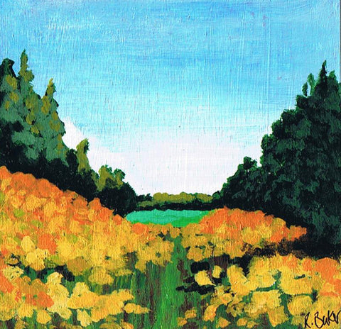 The Valley, landscape paintings, miniature art, buy art online, small canvases to buy on line, art,