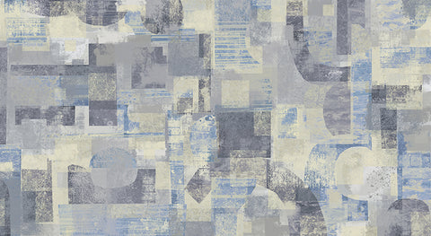 collage, abstract , contemporary, modern, modern wallpaper, blue abstracts, large scale pattern,
