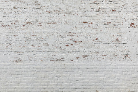 white brick, brick mural, brick wallpaper, white wallpaper, white mural, bricks, brick work, distress, antiqued,