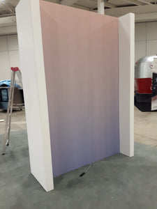 Ombre wall mural in pink and blue. GTA Home Show. 2018