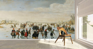 Skaters on the Amstel by Arent Arentsz / AGO