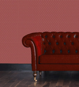 geometric pattern, wallpaper. Red and white. traditional pattern.