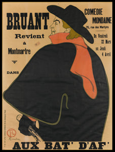 Bruant poster by Toulouse-Lautrec / AGO