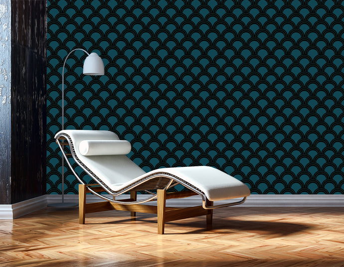 large scale modern vintage wallpaper. Large scale geometrics.