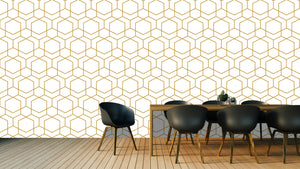 Gold geometric, large scale / Pattern