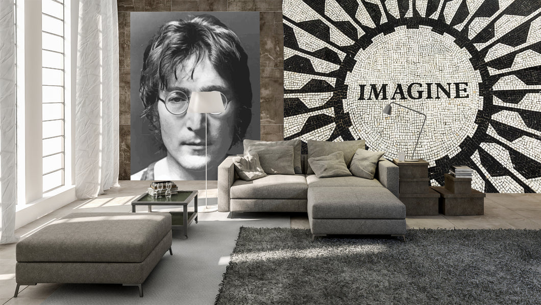 imagine mural. Loft space murals and ideas.