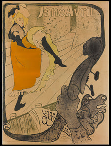 Jane Avril poster by Toulouse lautrec / Novelty