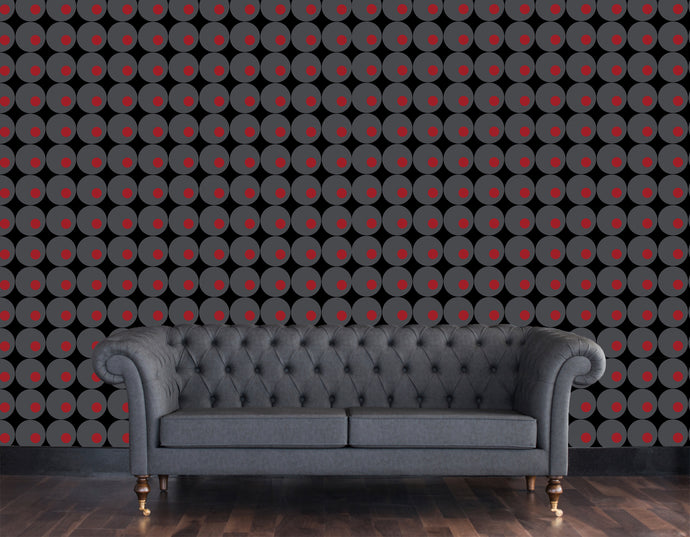 Lavello, Large scale modern wallpaper with circles in a modern retro style.