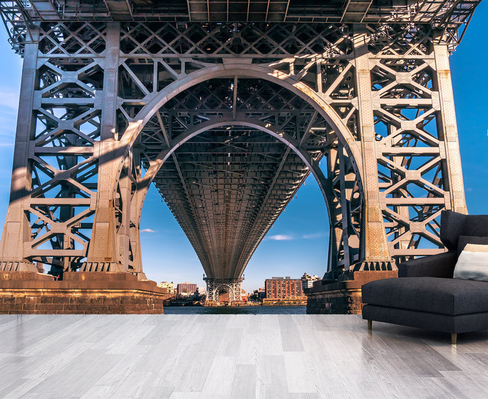 Legs of Manhattan Bridge / Architectural