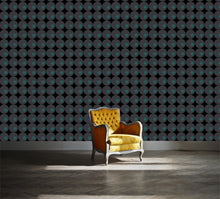 modern retro design. Large scale pattern with circles.