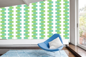 Large-scale retro inspired wallpaper, Modern vintage wallpaper mural.