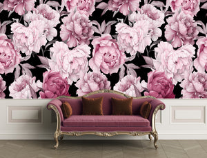 Peony - Black ground  / Pattern