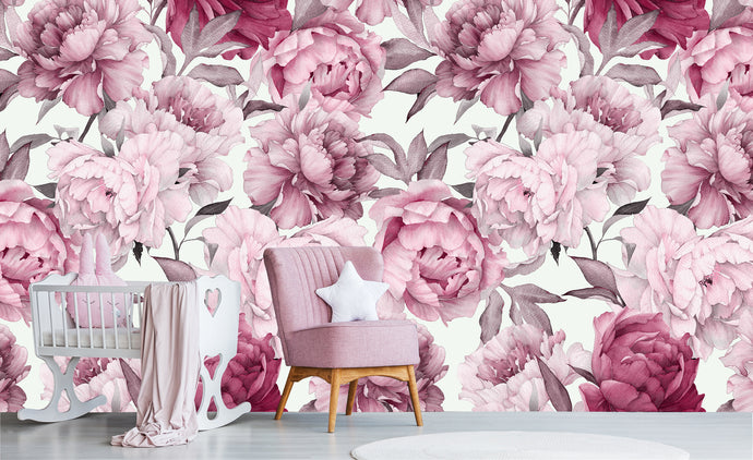 Peony - White ground  / Pattern