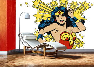 Super Wonder Woman -white ground / Teb interiors