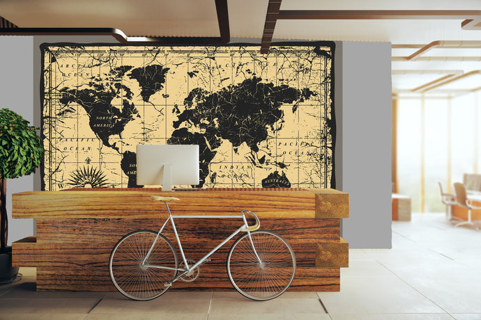 Antiqued map / Novelty