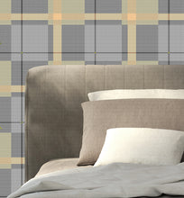 gray and sage woven plaid by Ruth Baker.