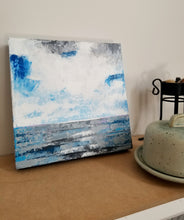 lake Erie painting, blue and white, small paintings to buy online,