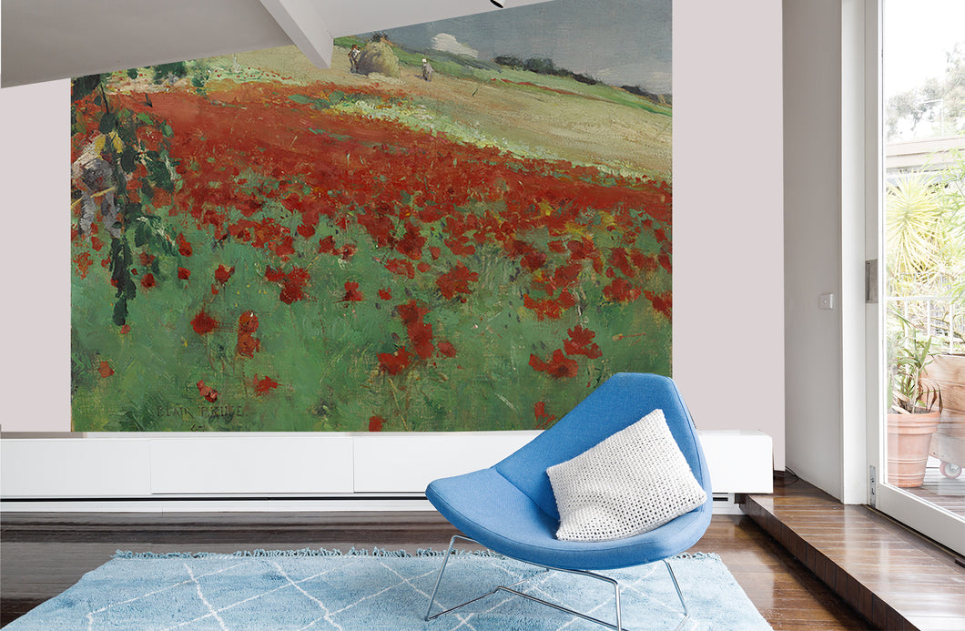 Landscape with poppies by William Blair Bruce. / AGO
