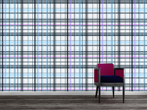 Plaid in navy and white - Large / TEB interiors