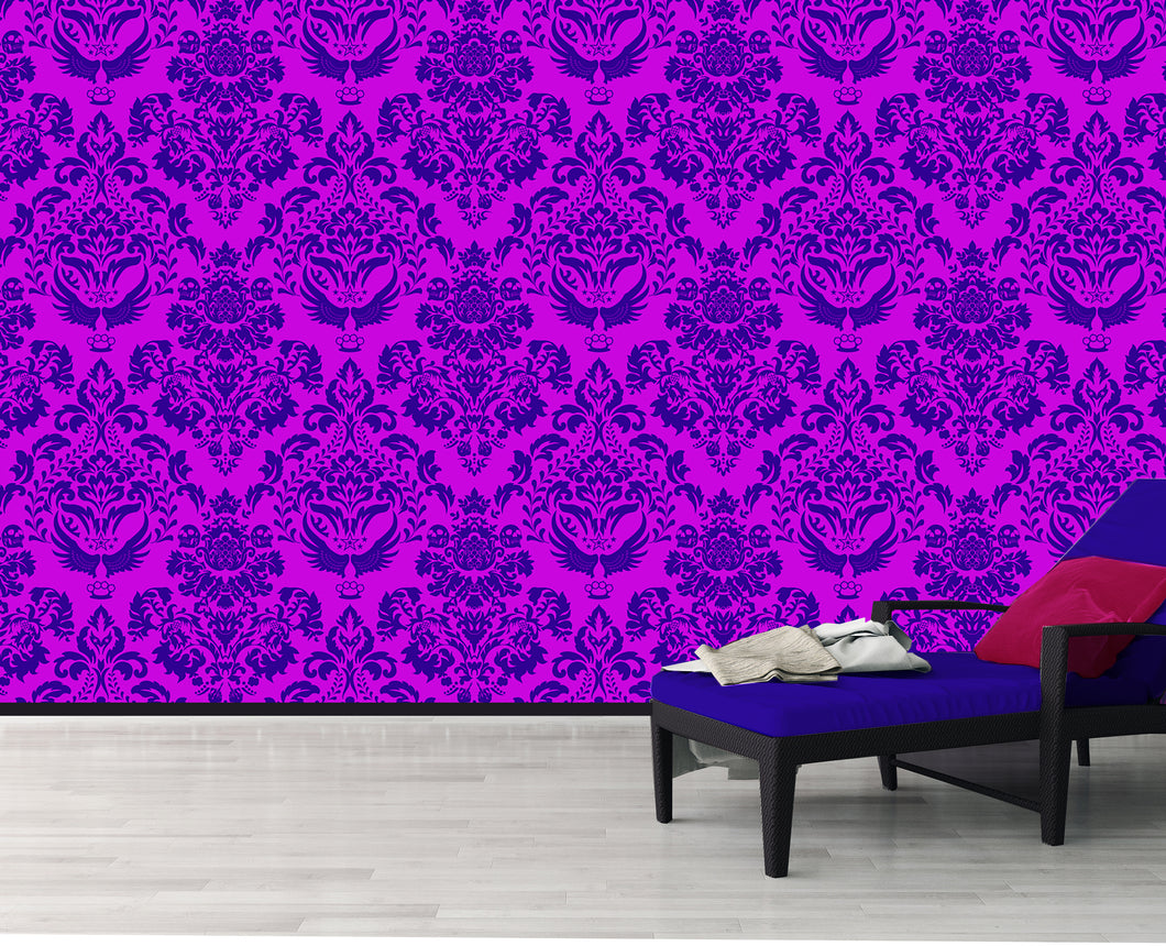 Damask in Magenta / TEB interiors