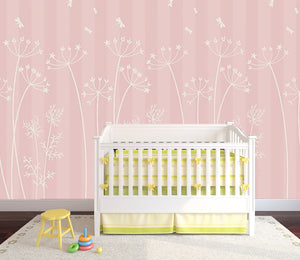 "Pretty Meadow in ""New Pink"" / Pattern"