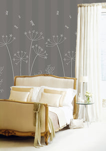"Pretty Meadow in ""Dove Grey "" / Pattern"