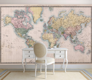 Printed murals ruth baker design novelty collection pretty world map novelty gumiabroncs Choice Image