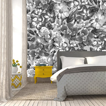 Olga floral in gray / TEB interiors