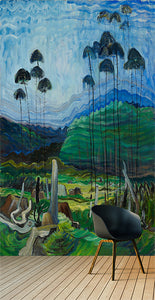 Emily Carr printed mural. By Ruth Baker Design.